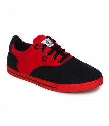 Cefiro Men Casual Shoes Fun04A Black Red CCS0019